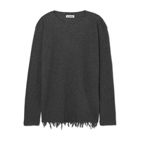 Jil Sander Frayed wool and cashmere-blend sweater