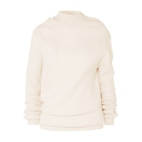 Jil Sander Aymmetric ribbed wool and cashmere-blend sweater