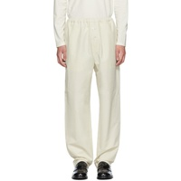 Jil Sander White Pull-Up Trousers