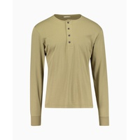 Kent & Curwen - Kendall Henley Rose Patch Long Sleeve Top - Green