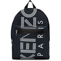 Navy Large Logo Backpack