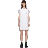 White Short Logo Sport T-Shirt Dress
