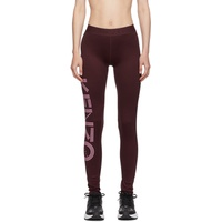 Burgundy Logo Leggings