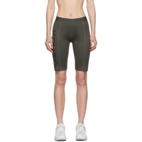 Green Logo Sport Cyclist Shorts