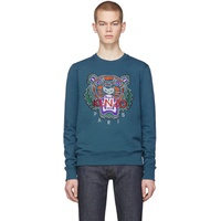Blue Limited Edition Holiday Tiger Sweatshirt