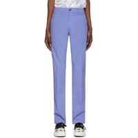 Purple Garment Dyed Chino Trousers