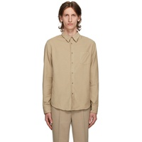 Beige Corduroy Slim Fit Shirt