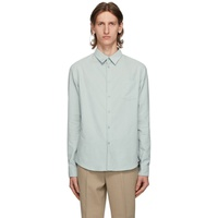 Green Corduroy Slim Fit Shirt