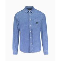 Kenzo - Small Tiger Crest Denim Shirt - Denim