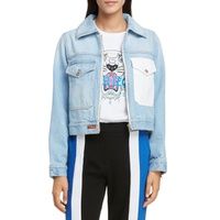 KENZO Rose Embroidered Denim Jacket