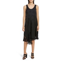 KENZO Lace Trim Asymmetrical Dress