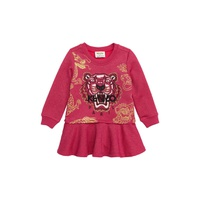 KENZO Tiger Metallic Fleece Sweatshirt Dress