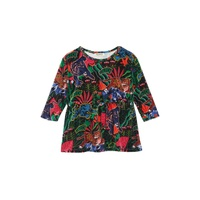 KENZO Graphic Print Velvet Fit & Flare Dress