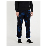 LIFES A BEACH Tie-dye cotton-jersey jogging bottoms