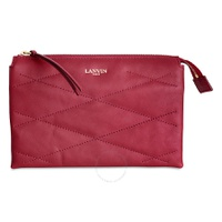 Lanvin Sugar Small Cosmetic Lambskin Leather Pouch - Red LW-SLGZP6-EGYA-P16