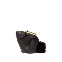 Loewe Bunny leather and shearling coin purse