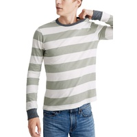 MADEWELL Rugby Stripe Allday Crewneck Long Sleeve T-Shirt