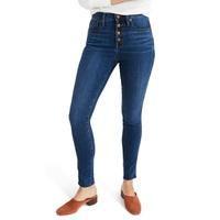 MADEWELL Button Front 10-Inch High Rise Skinny Jeans