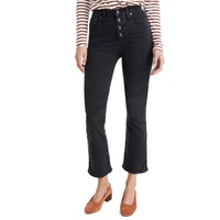 MADEWELL Cali Button-Front Edition Demi-Boot Jeans