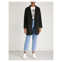MAJE Galami brushed wool-blend coat