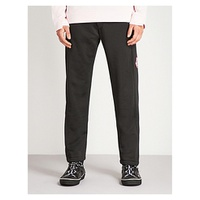 MCQ ALEXANDER MCQUEEN Panel Badge straight jersey jogging bottoms