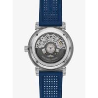 Oversized Greer Silver-Tone and Perforated Silicone Watch
