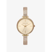 MICHAEL KORS Jaryn Pave Gold-Tone Watch