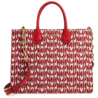MIU MIU Logo Jacquard Top Handle Tote