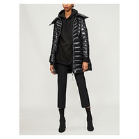 MONCLER Faucon quilted shell and down-blend coat