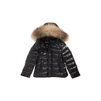 MONCLER Armoise Hooded Down Jacket with Genuine Fox Fur Trim