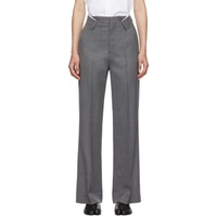 Grey Folded Waistband Trousers