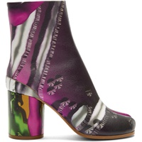 Green & Pink Graphic Tabi Boots
