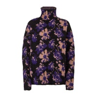 Maje Floral High Neck Sweater