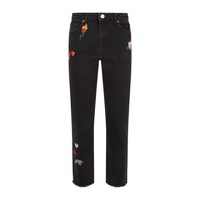 Maje Embroidered Straight Leg Jeans