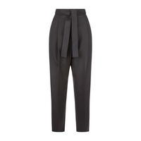 Maje Pleated Trousers with Belt