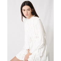 Maje Robe blanche A broderies anglaises