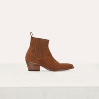 Maje 119FARWESTSUEDE Bottines en suede a decoupes western - Stiefel & Boots