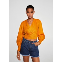 419435d40 Mango Frayed hem denim shorts