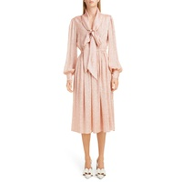 MARC JACOBS Tie Neck Lame Dress