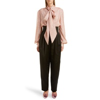 MARC JACOBS Tie Neck Lame Blouse