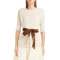 MARC JACOBS Bow Detail Cashmere & Wool Blend Thermal Sweater