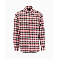 Marcelo Burlon - Dog Back Print Check Shirt - Red
