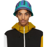 Multicolor Striped Poplin Bucket Hat