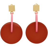 Pink & Red Vertigo Earrings
