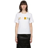 White Patchwork Logo T-Shirt
