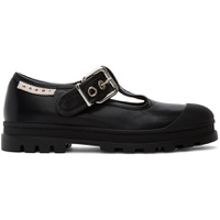 Black Buckle T-Bar Shoes