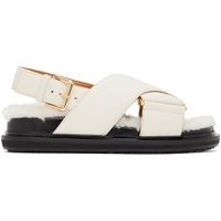 Off-White Shearling Fussbett Sandals