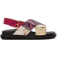 Multicolor Patchwork Fussbet Sandals