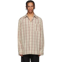 Marni Off-White & Red Check Shirt