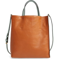 MARNI Museo Small Colorblock Leather Tote